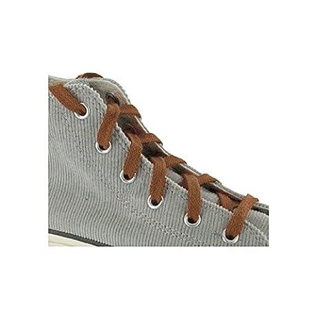 Paire Lacets Plats chaussures marron clair acajou - 150 cm 8 mm - basket tennis sneakers