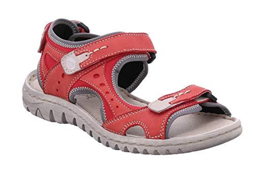 Josef Seibel 63817 Lucia 17 Damen Trekking Sandalen,Outdoor-Sandale,Sport-Sandale,Aussensteg,3-Fach Klett,Rubin-Kombi,39 EU