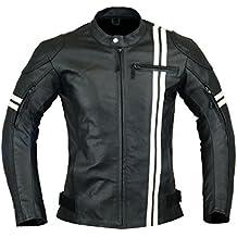 14719e29b6e Chaqueta de motociclista de piel para hombre
