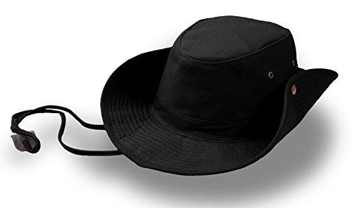 Ranger Schwarz Hut Ranger Mütze Cowboy, Unisex - Erwachsene, schwarz