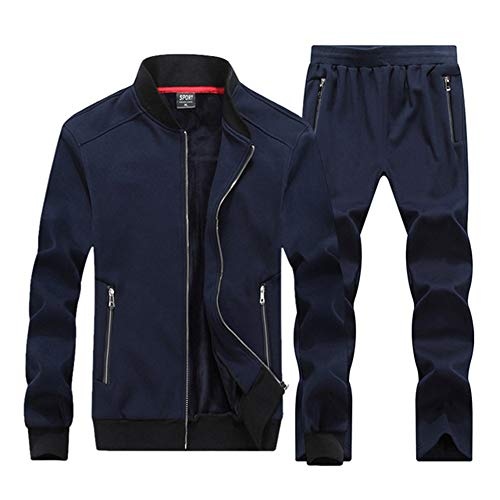 Fashion Trainingsanzug Herren Herbst Winter Casual Sweatshirt + Jogginghose Zweiteiler Sportwear Herren Fat Sweat Suits,a,7XL