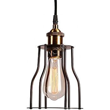 cage lighting pendants. vintage industrial metal cage loft bar ceiling light shade retro pendant lighting pendants t