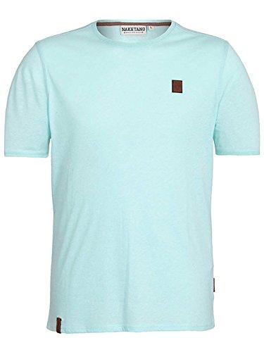Naketano Male T-Shirt Italienischer Hengst V ice green melange