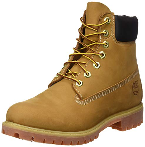 Timberland Herren 6 In Premium Waterproof (Wide fit) Klassische Stiefel, Gelb (Wheat Nubuck), 43.5 EU