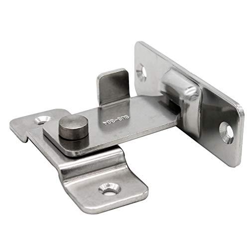 DINGCHI Cerrojo de seguridad giratorio para puertas corredizas, Pestil