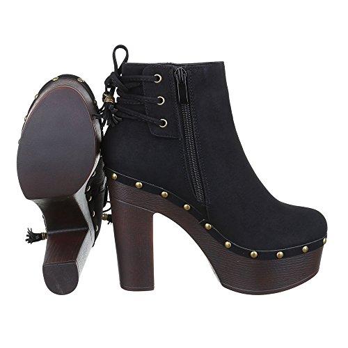 Ankle Salto Preto Alto Ital Saltos Botas Calçados Bombear Escorregar Boots design Zipper Femininos 55SnxAqrUB