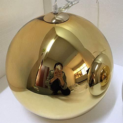 CRESDAR&L Chrom Spiegel Kugel chanderlier Glas pendelleuchten Hause Restaurant Wohnzimmer Lampe 20 cm / 25 cm / 30 cm / 40 cm / 45 cm / 50 cm Gold 31-40W D40cm (Bulk Gläser Bier)