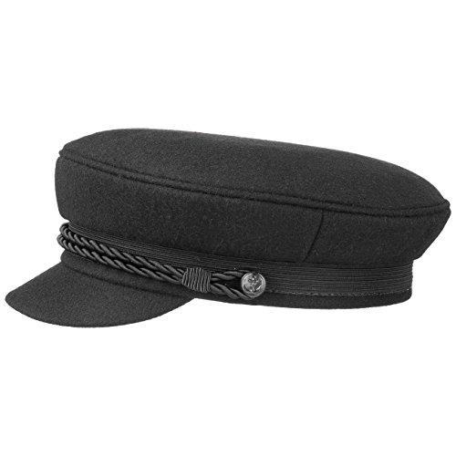Black Elbsegler Schiffsmütze Schildmütze Mütze Kaitänsmütze Lierys Elbsegler Kappe (58 cm - schwarz)