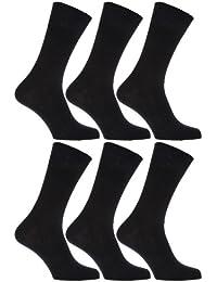 Chaussettes 100% coton avec dessus non-élastiqué (6 paires) - Homme