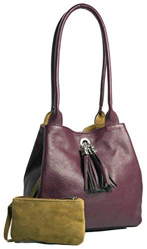 Big Handbag Shop, Borsa a mano donna One Maroon