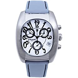 Lancaster 0289 WSW Mens Quartz Chronograph Watch with Leather Strap, White