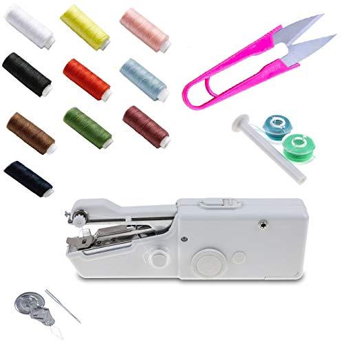 SAGESSE Máquina de Coser portátil Mini portátil Smart Electric Tailor Stitch Hand-Held máquina de Coser hogar Viaje