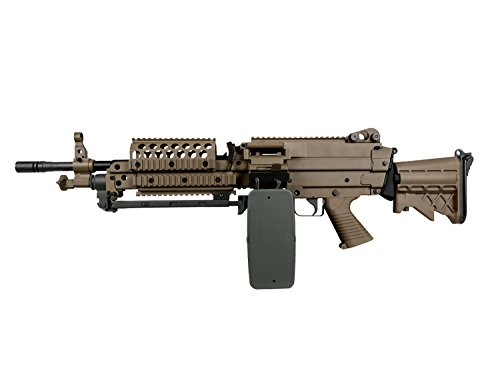 A&K MK46 Vollauto Softair / Airsoft Light Machine Gun Maschinengewehr -TAN- < 0,5 Joule (Machine Air Gun)