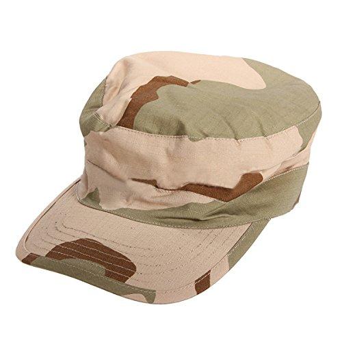 SODIAL (R) Esercito militare urbana Sun Visor Cap Mens Lady Cappello Jungle Camo Camouflage Baseball - Desert Camo