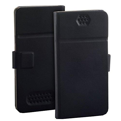 Premium Book Flip Case schwarz passend für