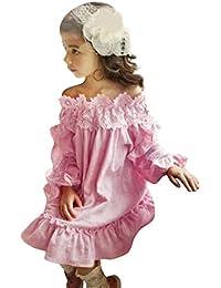LEvifun Vestiti da Partito della Principessa del Merletto del Merletto della  Neonata dei Capretti dei Bambini ed279442c30