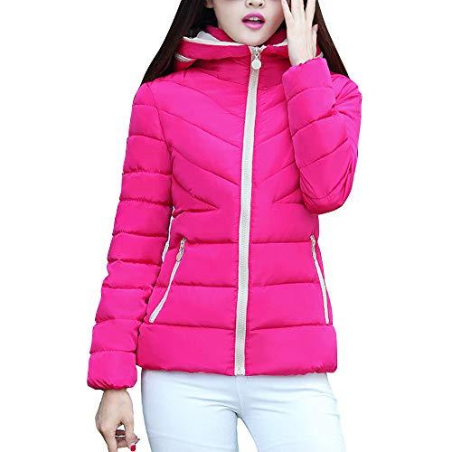 OSYARD Damen KurzeJacke Wintermantel Kapuzenjacke mit Reißverschluss Outwear Regenjacke Einfarbig,...