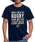 Dieu Créa Le Rugby T-Shirt Homme, 4XL, Marine
