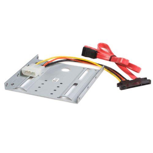 StarTech.com Adapter Bracket für 2,5 (6.4cm) auf 3,5 (8,9cm) HDD, SATA / SSD Festplatten Einbaurahmen für 3.5 Zoll Schacht (BRACKET25SAT)