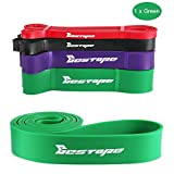 BESTOPE Resistance Bands Pull Up Assist Bands for Powerlifting and Yoga Premium Latex Durable Workout Stretch Exercise Loop Crossfit Bands for Men and Women Training Fitness Bands