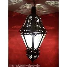 Mediterrane Lampe Ksar Weiss
