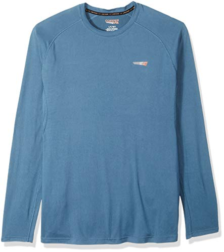 Long Sleeve Tight Crew Shirt (Copper Fit Herren Long Sleeve Crew Neck Tee T-Shirt, Teal Agate, 2X-Large Hoch)