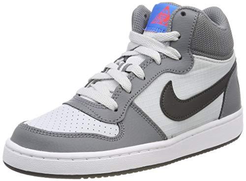 8fc224b16f4414 Nike Mädchen Court Borough Mid Basketballschuhe Grau (Cool Grey Anthracite Pure  Platinum 009) 37.5 EU