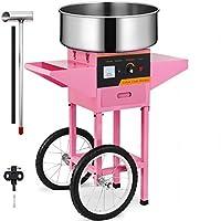 SucceBuy Machine à Barbe à Papa avec Chariot Professionnelle Cotton Candy Machine Idéale pour Anniversaires et Festivals…