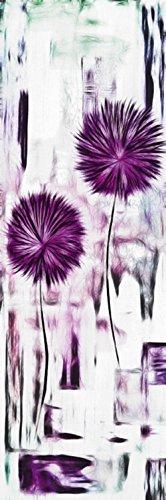 Artland Qualitätsbilder I Bild auf Leinwand Leinwandbilder Wandbilder 20 x 60 cm Botanik Blumen Digitale Kunst Lila A8XC Blumen