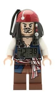 LEGO Pirates of the Caribean Jack Sparrow Minifigure Clock