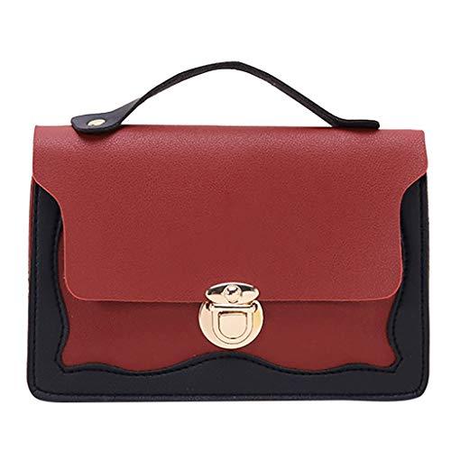TIFIY Damen Rucksack Mode Dame Schultern kleiner Rucksack Anschreiben Geldbörse Mobile Messenger Bag Arbeits Täglich Bankett Elegant Tasche(Rot) -