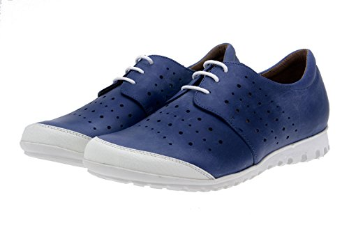 Chaussures Femme Confort Cuir Piesanto 8525 Classique Bas Amovible Extractible Confort Largeur Spéciale Blanco