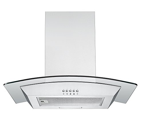 41YSc03XviL - Cookology CGL600SS Designer Extractor | 60cm Curved Glass Chimney Cooker Hood in Stainless Steel