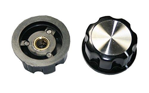 Bouton rotatif Appareil de bouton potentiomètre Bouton MF A01 20 mm axe 6 mm Noir 1 pièces (0062)