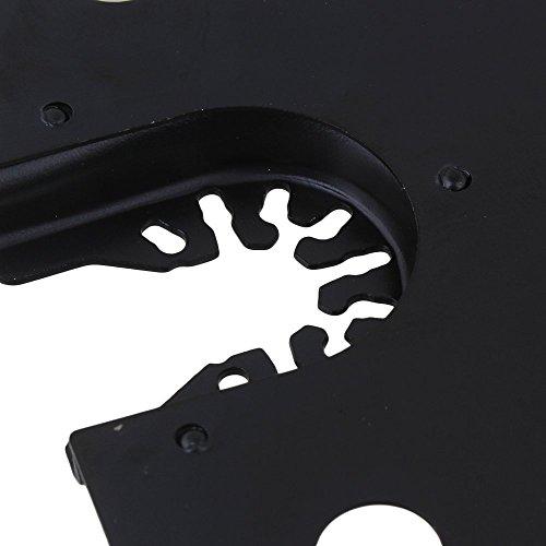 cnbtr 100mm schwarz kohlenstoffreicher Stahl Quick Release Pendelndes Multitool Halbkreis Sägeblätter mit Senkkopf