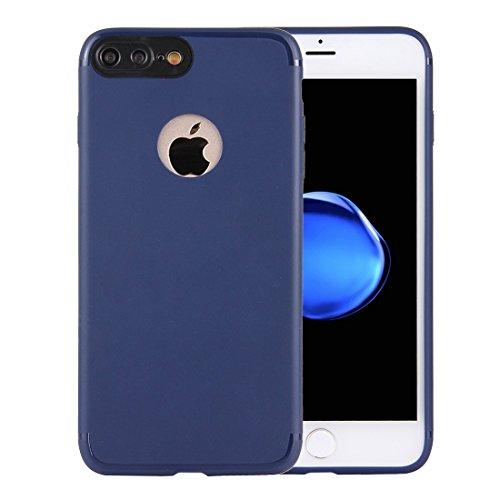 Wkae Ultra-dünner TPU mattierter schützender rückseitiger Abdeckungs-Fall für iPhone 7 Plus ( Color : Dark blue ) Dark blue