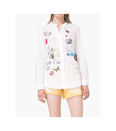 Desigual - Camicia - Maniche lunghe  -  donna bianco L