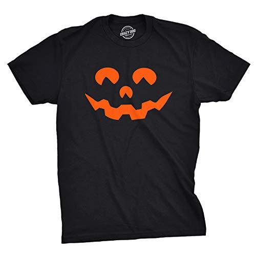 Mens Cartoon Eyes Pumpkin Face Funny Fall Halloween Spooky T Shirt (Black) - 3XL - Herren - 3XL ()