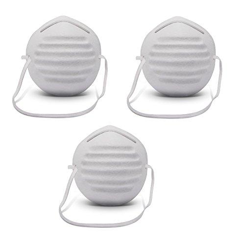 10390 Komfort Sicherheit - Atemschutzmaske im 3er-Set - geformt Face Schutz Premium Atemmaske - Perfekt anpassbare FFP1 Mundschutz Maske