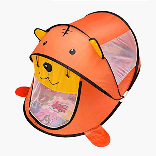 ZHANGyy Spielzeugladen Klapp Für Kinder Haus Spielzeug Indoor Prinzessin Baby Small Private Geburtstagsgeschenk Einfach Zu Tragen,Orange -