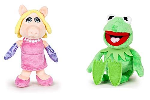DIE Muppet Show Paar Verschiedene Plüsch Spielzeug 20cm Kermit der Frosch Miss Piggy Disney Original Muppets