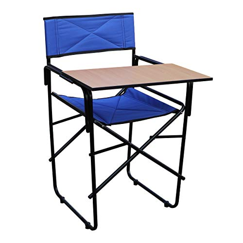 Spacecrafts Folding Study Chair with Writing pad (Standard, Blue)