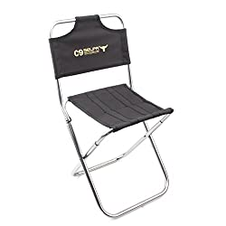 Magideal Fishing Camping Hiking Folding Chair Foldable Garden Stool with Backrest