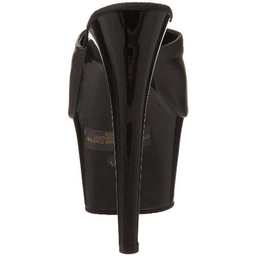 Pleaser Adore-701 - Sabot con tacco da donna, colore: Nero Blk Leather/ Blk