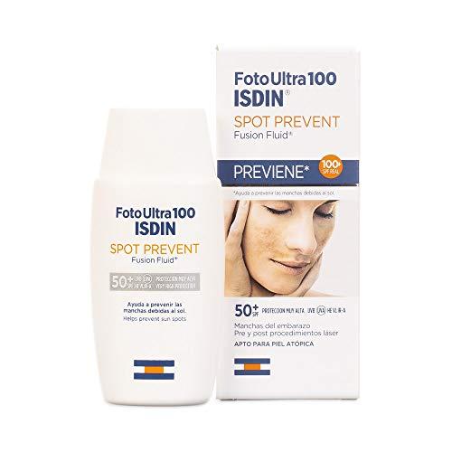 ISDIN FotoUltra Spot Prevent SPF50+, Fotoprotector Fusin Fluid Muy Alta Protección   Previene las Manchas   50ml