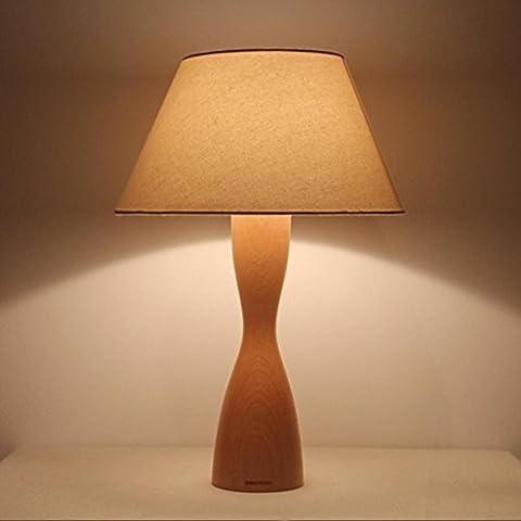 GBT Creative lampe de table en bois chinois Chambre à coucher lampe de chevet simple et moderne lumière chaude? Lampes LED, lumière chaude, éclairage Blanc, lustres, Lampes de lumières d'intérieur, extérieur, Lampes de mur?