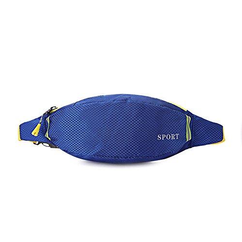 BUSL Frau Wandern Hüfttaschen Sport wasserdichte Outdoor persönliches Telefon Stealth Mini-Tasche läuft treasure blue