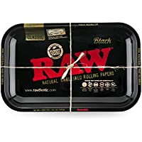 Raw - Bandeja de metal para ruedas (27,5 x 17,5 cm), color negro