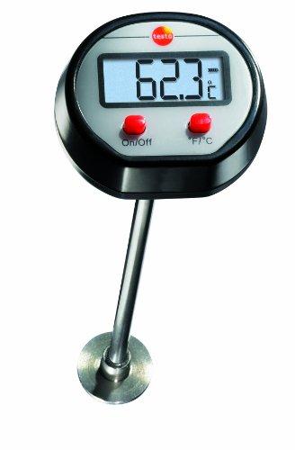 Testo 0560 1109 Mini Oberflächen-Thermometer bis 300 °C, Länge 120 mm, verbreiterte Messspitze, gut ablesbares Display, inklusive Batterien