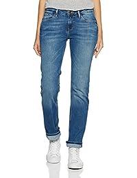 Cross Damen Straight Jeans Rosè